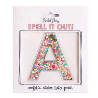 Packed Party Confetti Sticker Letters
