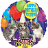 """Balloons.com 28 inch - Foil Balloon - Sing A Tune - """"Happy Birthday To Mew"""" (with helium)"""