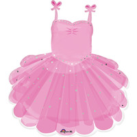 "Balloons.com 28"" - Foil Balloon - Ballerina Tutu (with 1.56cf of helium) Anagram SuperShape XL 35141"