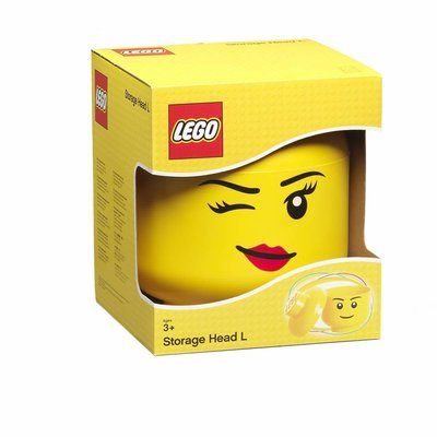 Lego 40321724 LEGO Storage Head (large) BOY Bright Yellow