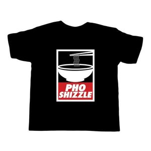 Bad Pickle Tees Pho Shizzle Kid's T-Shirt | Black:
