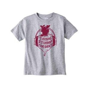 Bad Pickle Tees Thyme To Turnip The Beet Kid's Shirt | Gray: