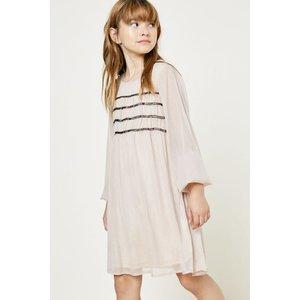 Hayden Ruched Babydoll Dress - Gold