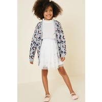 Hayden Tulle Lace Mini Skirt - G8003 White