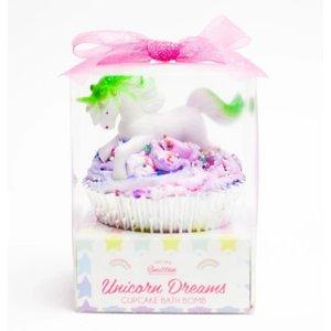 Feeling Smitten Large Cupcake Bath Bomb - (Unicorn Dreams) (colors may vary)