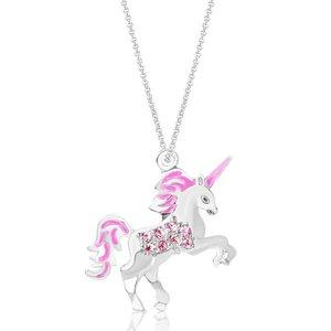 Chanteur Crystal Enamel Unicorn Pendent - Light Amethyst
