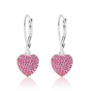 Chanteur Clay Heart Leverback Earring - Pink