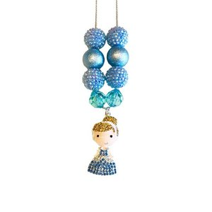 Fiveloaves Twofish Princess Charm Necklace -
