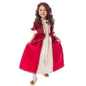 Little Adventures Beauty and the Beast - Belle - Winter Red Costume Gown Dress