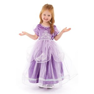 Little Adventures Sofia the First - Deluxe Purple Amulet Princess Costume Gown -