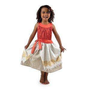 Little Adventures Moana the Polynesian Princess with Hair Clip Costume Dress -