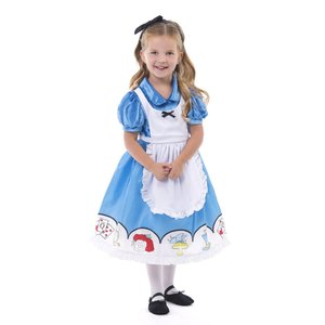 Little Adventures Alice in Wonderland with Headband Costume Dress -