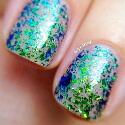 Polish Me Silly Blue Lagoon- Flakie Nail Polish