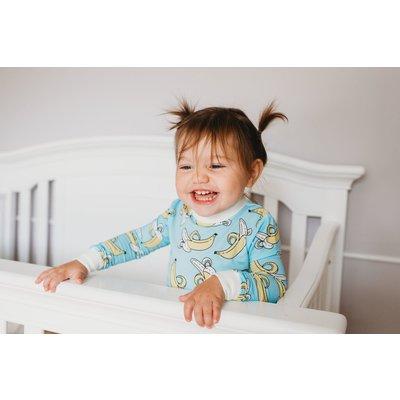 Little Sleepies Banana convertible romper/sleeper: -