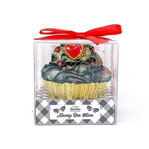 Feeling Smitten Large Cupcake Bath Bomb - (Honey Bee Mine with Red Heart)