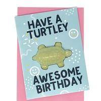 Feeling Smitten Have a Turtley Awesome Birthday Bath Card