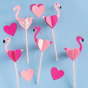 Paper Source Wholesale Flamingo Valentine Card Kit