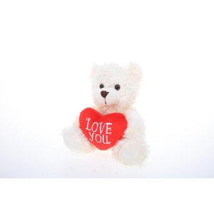 """Plushland 6"""" Bear with Love you heart -"""