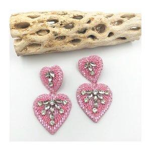 Treasure Jewels Pink Double Heart