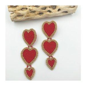 Treasure Jewels Triple Red Heart