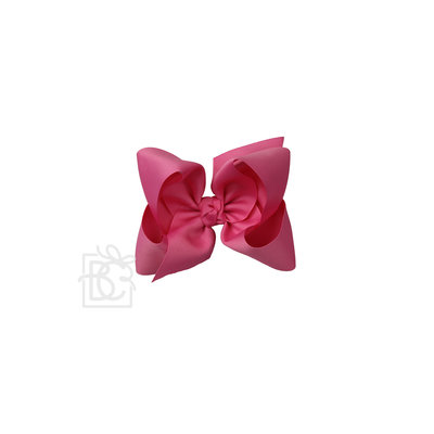 """Beyond Creations 2.25"""" GROS., 5.5'' XL BOW W/ KNOT ON ALLIGATOR CLIP--HOT PINK"""