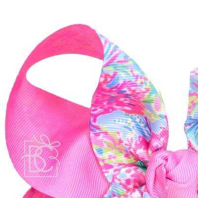 "Beyond Creations 3"" LP RIBBON, 7.5"" XXXL TWO TONE SPECIALTY BOW W/ KNOT ON FRENCH"