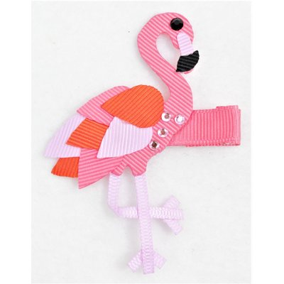 "Beyond Creations 3"" FLAMINGO ON PINCH CLIP -"