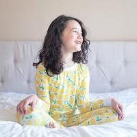Little Sleepies Lemons bamboo two-piece pajama set