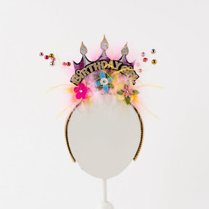 "One Hundred 80 Degrees Birthday Girl Headband - 4"""