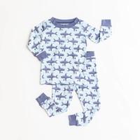 Little Sleepies Sharks bamboo two-piece pajama set