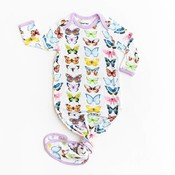 Little Sleepies Butterflies Bamboo Infant Knotted Gown