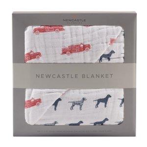 Newcastle Classics Fire Truck and Dalmatian Newcastle Blanket