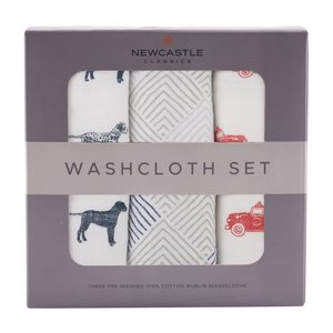 Newcastle Classics Fire Truck Washcloth Set of 3