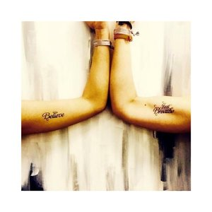"Conscious Ink ""Believe"" Manifestation Tattoo 2-Pack"