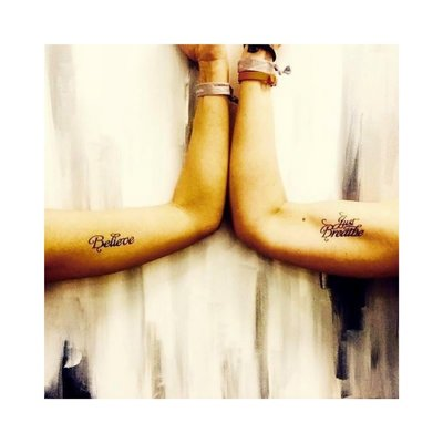 """Conscious Ink """"Believe"""" Manifestation Tattoo 2-Pack"""