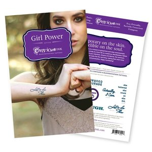 "Conscious Ink ""Girl Power"" Manifestation Tattoo Variety Pack"