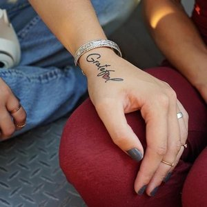 "Conscious Ink ""Grateful"" Manifestation Tattoo 2-Pack"