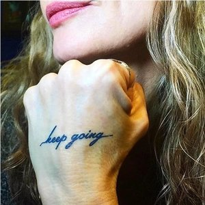 "Conscious Ink ""Keep going"" Manifstation Tattoo 2-Pack"