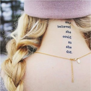 "Conscious Ink ""she believed she could so she did"" Manifestation Tattoo 2-Pack"