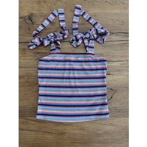 Penelope Tree Jewel Summer Top in Multi Stripe -