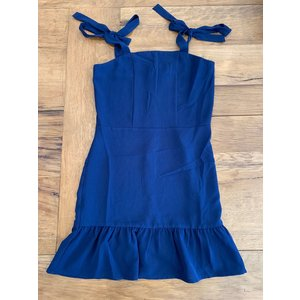 Penelope Tree Wavy Summer Dress in Navy -