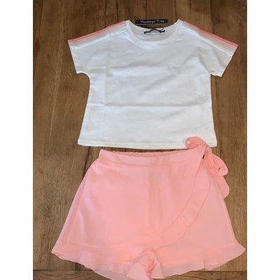 Penelope Tree Casper Shirt White w/ peach trim
