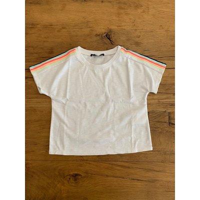 Penelope Tree Casper Shirt White w/ rainbow trim