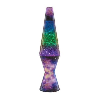 "Schylling 14.5"" Lava Lamp COLORMAX - Galaxy (silver stars glitter in clear liquid)"