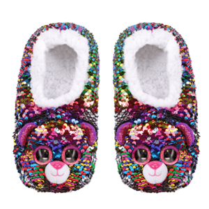 Ty Dotty - Leopard Reversible Sequin Slippers
