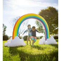 HearthSong Rainbow Inflatable Sprinkler
