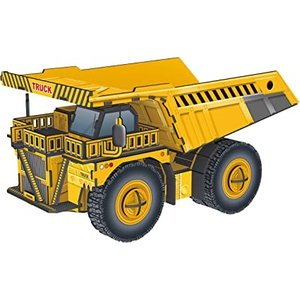 Top Race 3D Puzzle Dump Truck Puzzle - 10 Inches