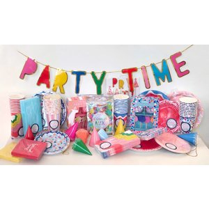 Packed Party Party Time Banner with tassels