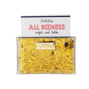 Packed Party All Bizness Confetti Card Holder
