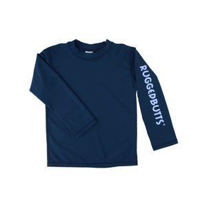 Ruffle Butts Navy Logo Long Sleeve Rash Guard